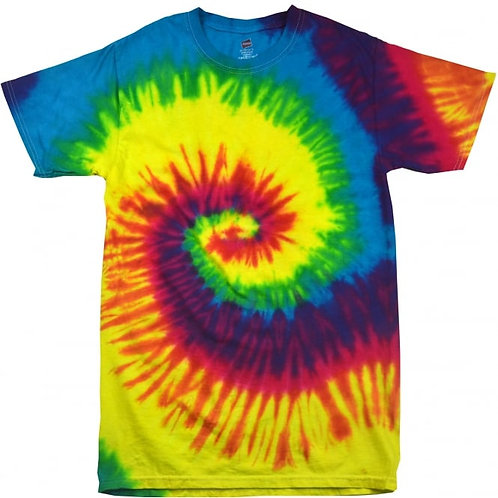 Rainbow Spiral Adult T-Shirt
