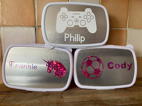 personalised lunch tub