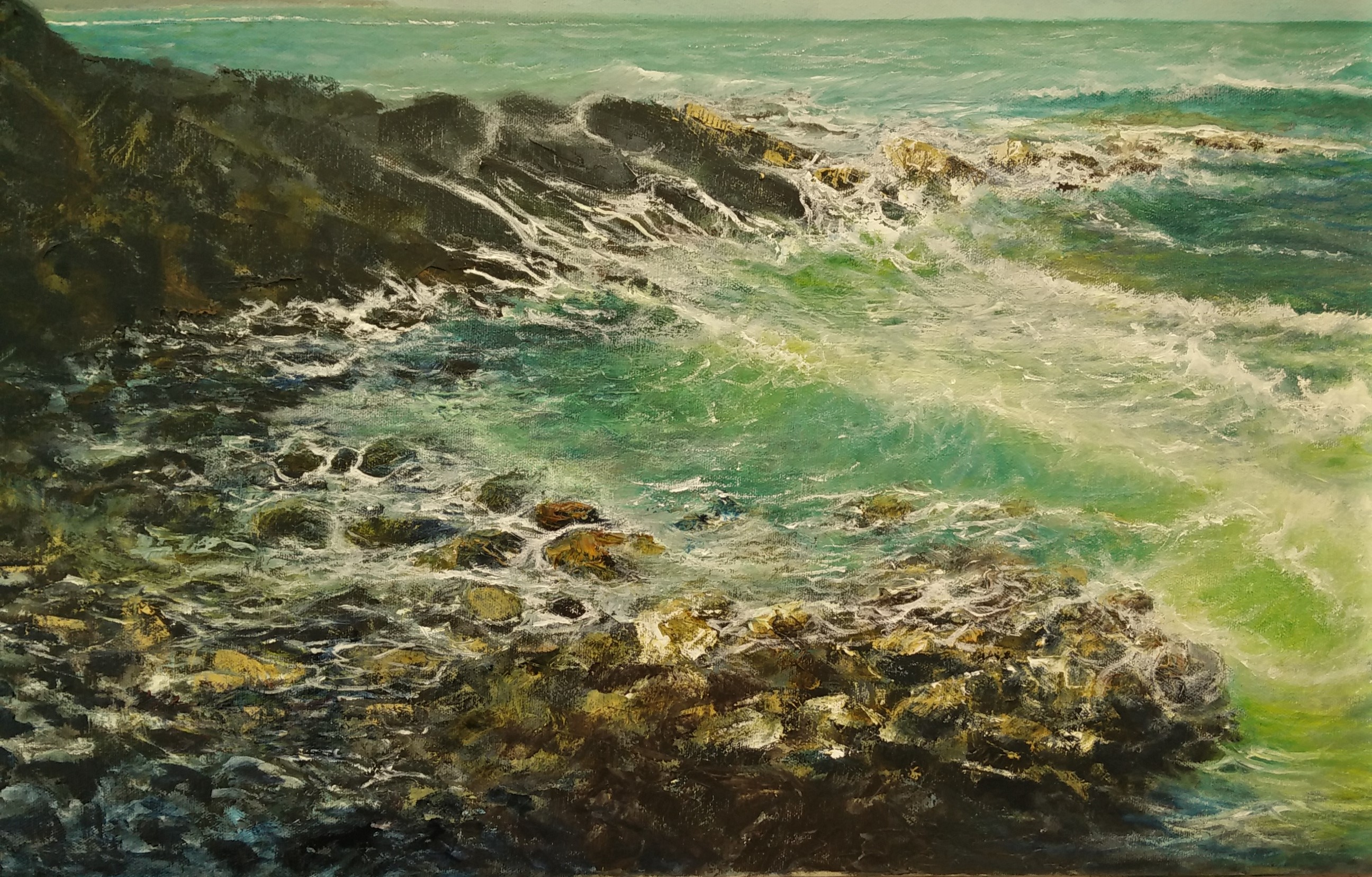 detail from Priest Cove(seascapes)