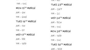 Forest School dates for March 2021