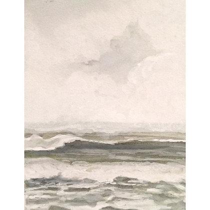 "A Salty Soft Kind of Sea (7""x5.5"")"