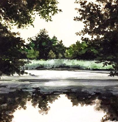 "Green Lagoon (5""x 5"")"