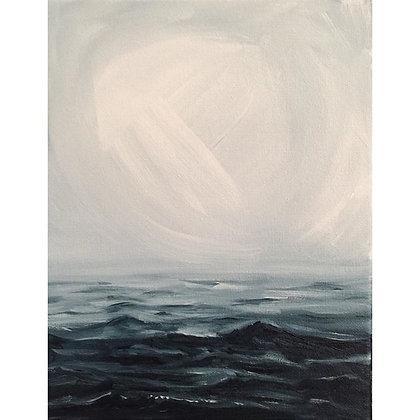 "Oh Ocean Sea, Pay Heed (10""x8"")"