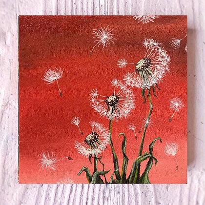 "Dandelion Wish (6""x 6"")"