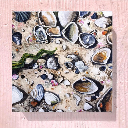 "Beach Finds (6""x6)"