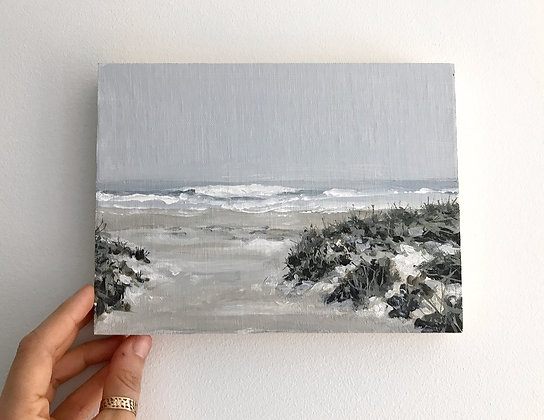 "Grey Waves (6""x 8""x 7/8"")"