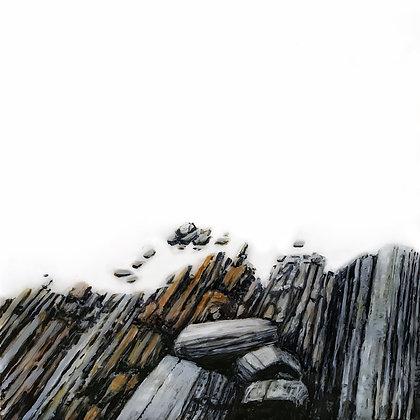 """""""Coast Rocks"""" (6"""" x 6"""")"""