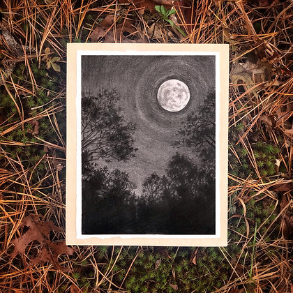 "Love As The Moon Loves (8""x10"")"