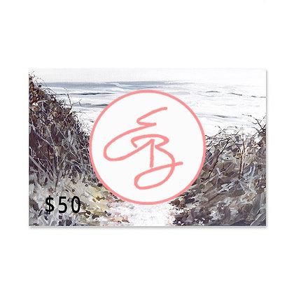 $50 Gift Card to Emma Ballou's Art Shop