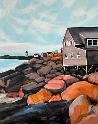 Fish Beach Lane - (24x30)