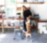 Emma Ballou Hamptons Artist Painting in her Home Art Studio