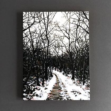 """Dark Lovely Woods (18""""x 24"""")"""