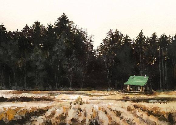 """Cabin Hideaway (9""""x12"""")"""