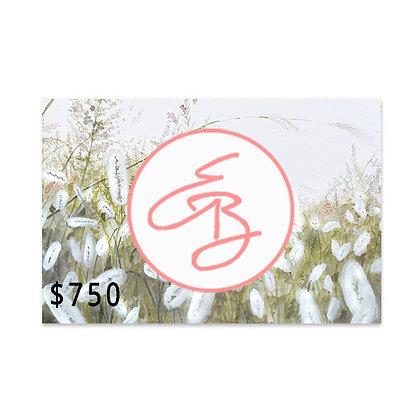 $750 Gift Card to Emma Ballou's Art Shop