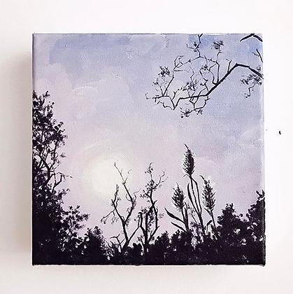 "Lilac Listening (8""x8"")"