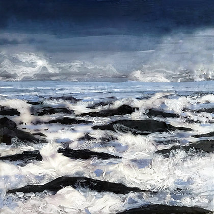"""Ocean Swirl"" (6"" x 6"")"