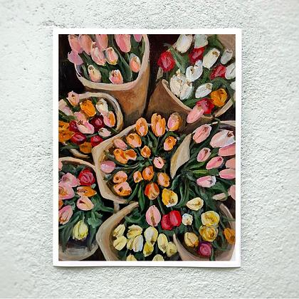 "Tulip Bouquets - 11""x14"" Print"