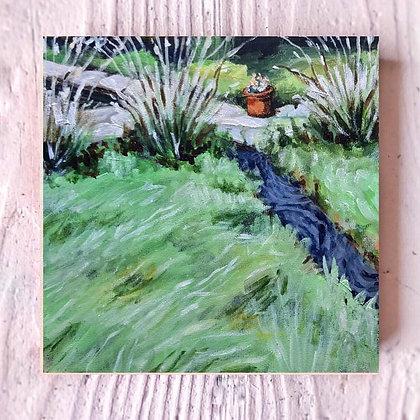 """Grassy Stroll (6""""x 6"""")"""