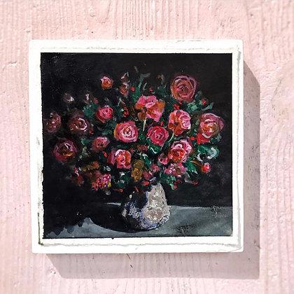 """Dark Roses (6""""x6"""")"""