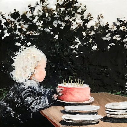 """""""Let There Be Cake"""" (6"""" x 6"""")"""