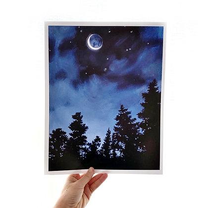 """Crescent Moon (11""""x14"""")"""