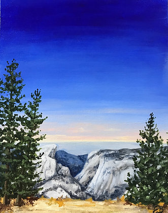 """View of Yosemite - Commission (11""""x14"""")"""
