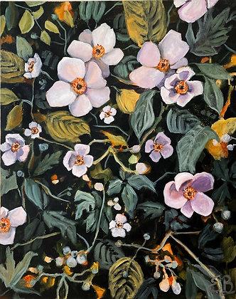 Monhegan Island Floral  (24x30)
