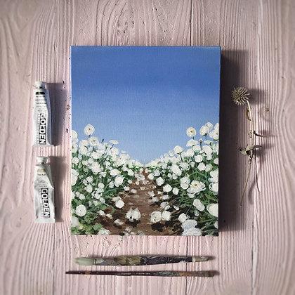"""Flower Field Glow (11""""x 14"""")"""