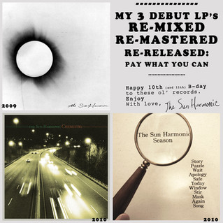 My 3 Debut LP's REMIXED + REMASTERED for the 10th (and 11th) Anniversary