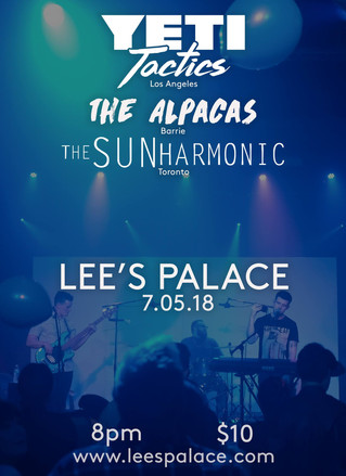 The Sun Harmonic (the band) at Lee's Palace