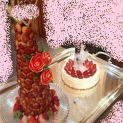 ウェディング・ケーキトッパー付