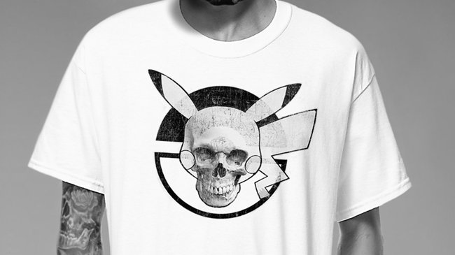 Pika-Ball Skull White T-Shirt