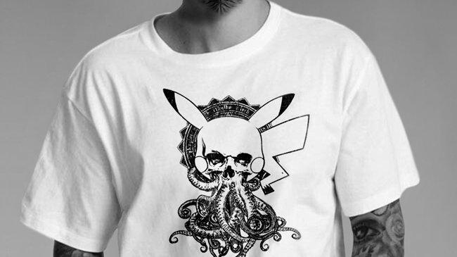 Pika-Thulu White T-Shirt