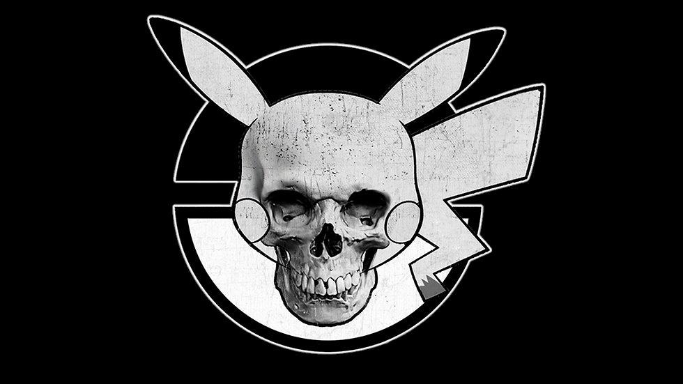 Pika Skull Ball Sticker