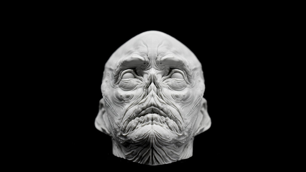 Aqua Head Paperweight