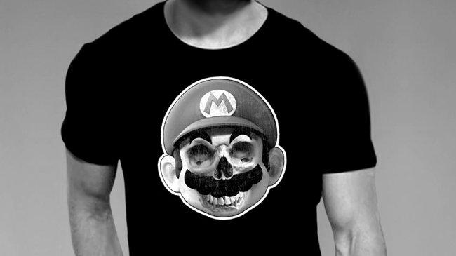 Mario Skull Blk T-Shirt
