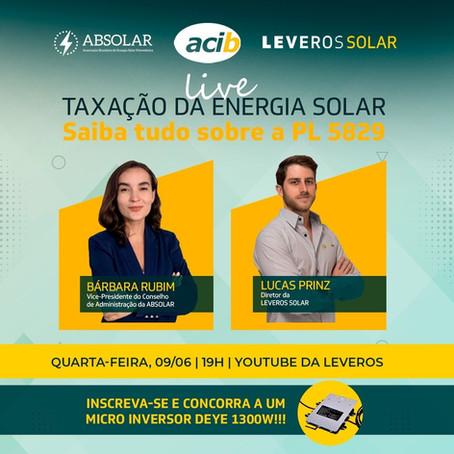 Live discute futuro da energia solar no Brasil