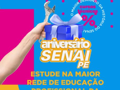 SENAI PE oferece descontos de aniversário