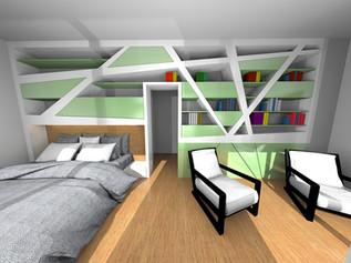 Master Bedroom of a family house in Nové Zámky, Slovakia