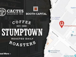 Cactus Holdings signs lease with Stumptown Coffee Roasters for 10,800 square feet at 10-89 Wyckoff A