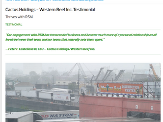 Cactus Holdings - Western Beef Inc. Testimonial Thrives with RSM