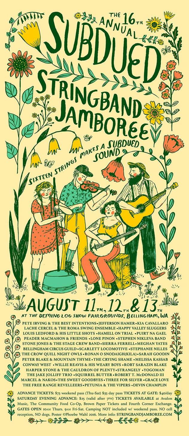 Subdued Stringband Jamboree Poster,  2016