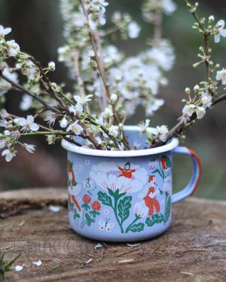 Flower Fairy Enamel Mug