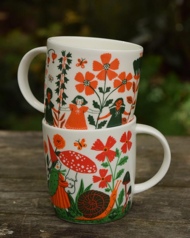 Illustrated Bone China Mugs