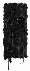 black fabric clothing found sculpture tied together