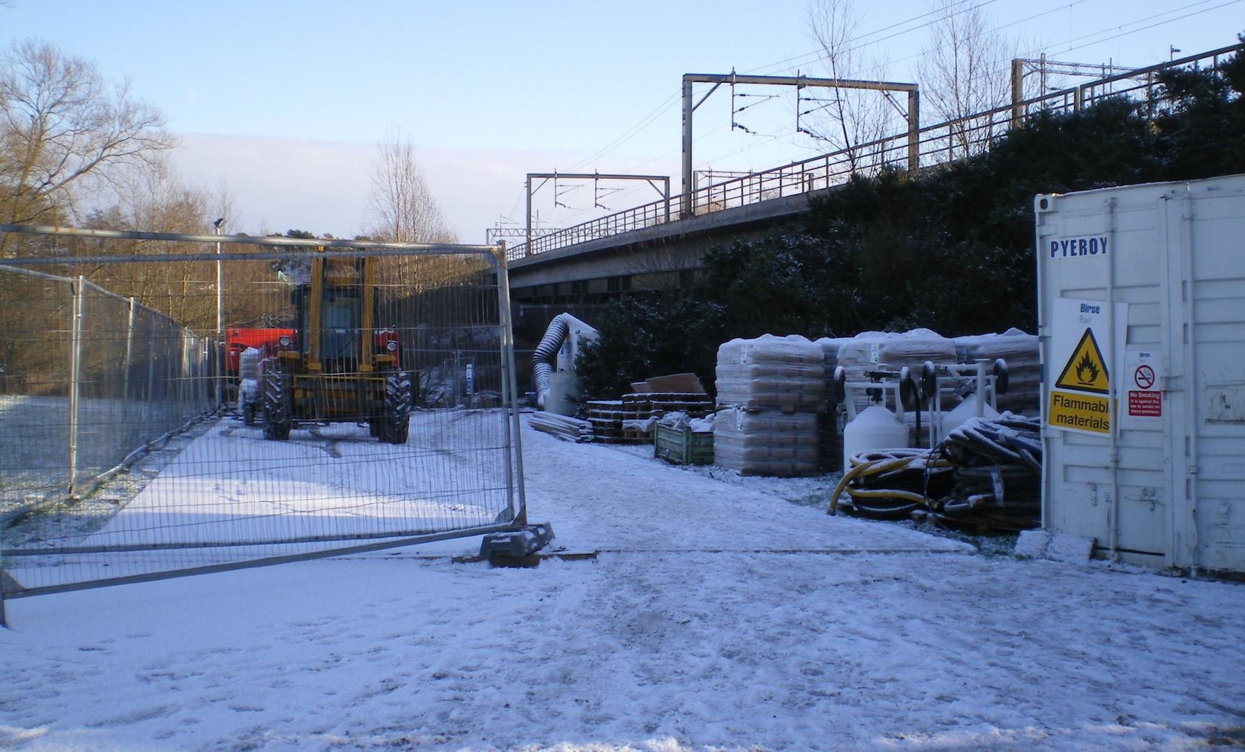 Application on freezing rail bridge