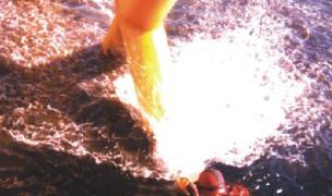 Preparing to coat underwater