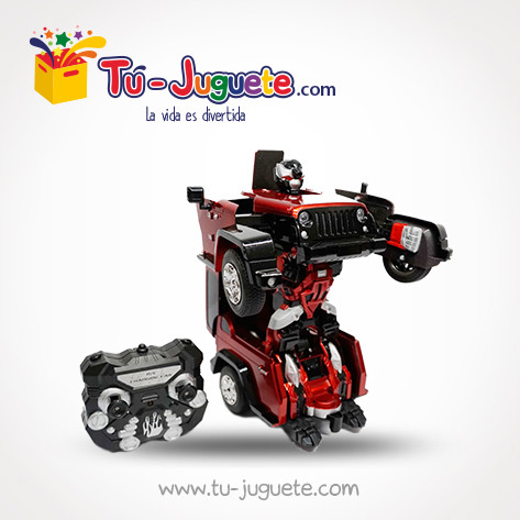 Carro Transformers En Robot Con Cargador Usb