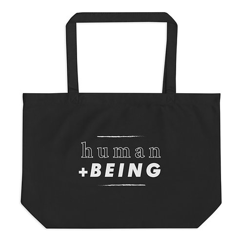 human + BEING organic tote bag