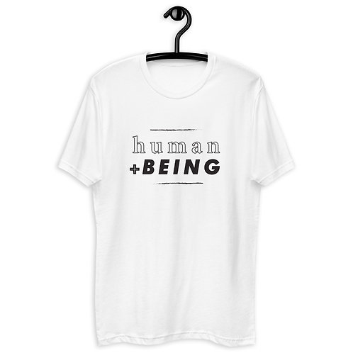 human + BEING tee black colorway